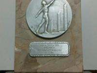 Identifikacia medaile/plakety Sokol skola SNB Kremnica