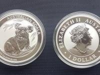 Australia Koala 1oz 2019 investicne striebro