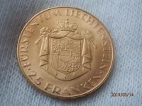 25 frank 1961 Liechtenstein