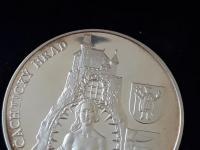 Ag medaila Alžbeta Báthoryová / Čachtický hrad - MK č.21/27 (141g)