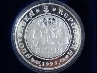 slovenské strieborné korunové pamätné mince proof