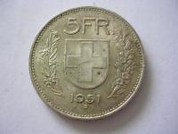 Ag 5 Francs Swiss 1933 - 1969