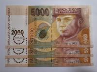 10 x 5 000 Sk 1995 Bimilénium