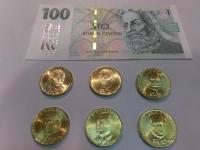 pamätné 20 Kč mince 2018 + 20 Kč 2019 + 100 Kč s prítlačou (2 kompletné sady)