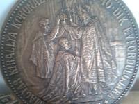 28 cm AE plaketa FJI 40 rokov korunovácie