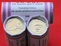 Slovenské rolky euromincí
