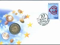Numizmaticka obalka - 10 rokov eura