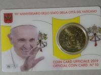 Vatikán 2019 mincová karta 50c