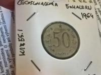 50 halier 1964 - dodatočná úprava alebo razba do iného kovu