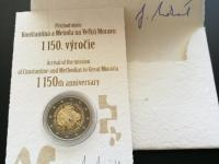 2€ PROOF - Cyril a Metod + podp