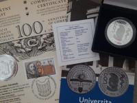 10 euro Univerzita  Komenskeho Proof + PL