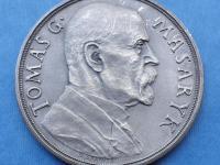 AR medaila TGM k 85. Narodeninám - 50 mm , O. Španiel 1935