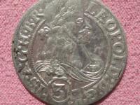Groš -3 grajciar 1666 SHS Leopold I