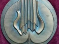 Medaila SND, sign. Korkoš, kožená etue