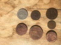 rozne stare mince