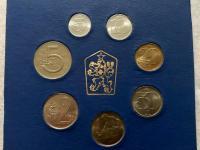 Sada obehovych minci 1986 Kčs BU