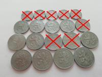 Protektorát Čechy a Morava obehové mince - rôzne ročníky a nominály
