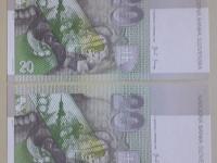 20 Skk 2004 - séria S43307405 a S43307406 - UNC