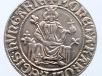 Strieborná replika groša uhorského kráľa Karola Róberta z Anjou