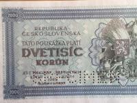 2000 Dvetisic korún - specimen