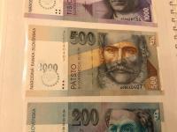 Predaj 6ks SK bankoviek s potlacou bimilenium