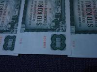4 x 100 Korun 1961 Serie !R! zapis 2500 Kc