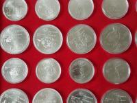 Montreal Olympiada 1976 sada 28 minci striebro v kazete