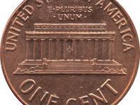 1 centy z USA (Lincoln)