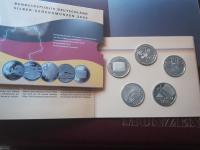 5x 10 euro Nemecko 2002 striebro Proof