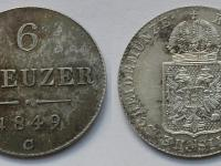 6 grajciar 1849, Praha, krásny stav