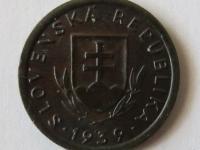 Slovensko - 10 halierov 1939