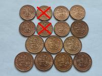 Československo 1918 - 1993 ČSR ČSSR ČSFR mince v krásnych stavoch