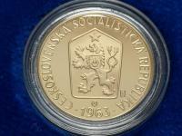 Mince ČSSR 1963 - proof sada v drevenej kazete