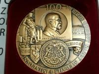 Medaila 100. výročie obnovenia razby medailí v Kremnici