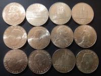 Strieborne mince Rakusko 25 Silingy 12x