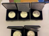Strieborné euromince proof 2020