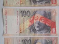 Predám spolu tri bankovky 100 Sk