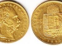 20 Francs / 8 Forint