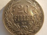 20 Fillér, Ni 4g 21 mm - 1908 K.B