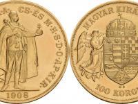 Kupim 100 korona 1908 KB, novoražba