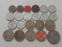 Slovenský Štát strieborné mince 20 a 50 Koruny, obehové mince a Protektorát čechy a Morava obehové mince