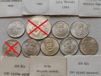Československé strieborné pamätné mince v krásnej pôvodnej patine s dobovými papierovými obalmi
