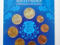"""Estónsko 2011 -vymením - resp. predám sadu minci v kvalite UNC ,, darčekové balenie"""""""