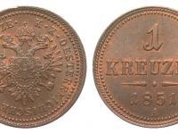 1 Grajciar 1851 (Zlatníková mena)