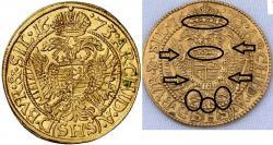 Dukát 1673 - porovnanie