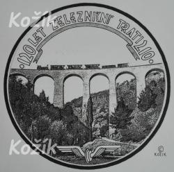Jaroslav Kožík - 120 let železniční trati 210 - námet, graf návrh averz
